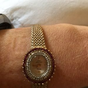 Antique Jules Jergensen diamond/ruby watch